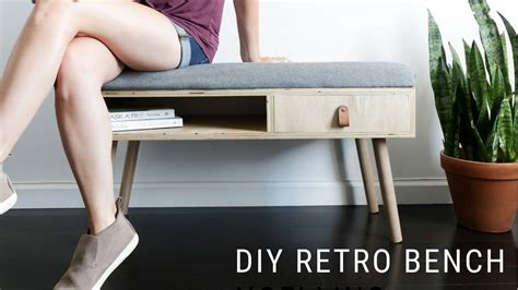 build  upholstered entryway bench full tutorial