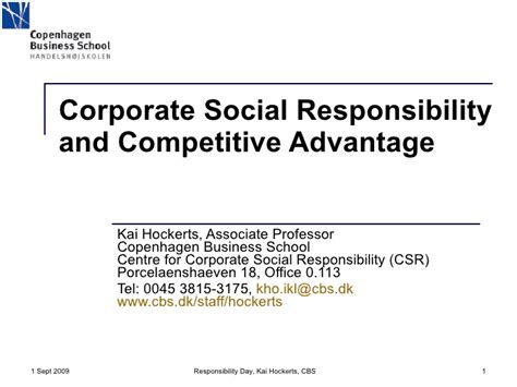 Social Responsibility In Business Boston Mba by Corporate Social Responsibility And Competitive Advantage