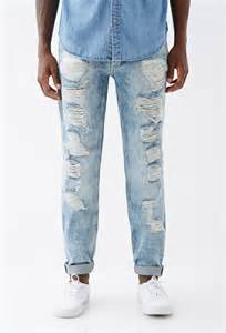light wash jeans mens ripped jeans for men light blue bbg clothing