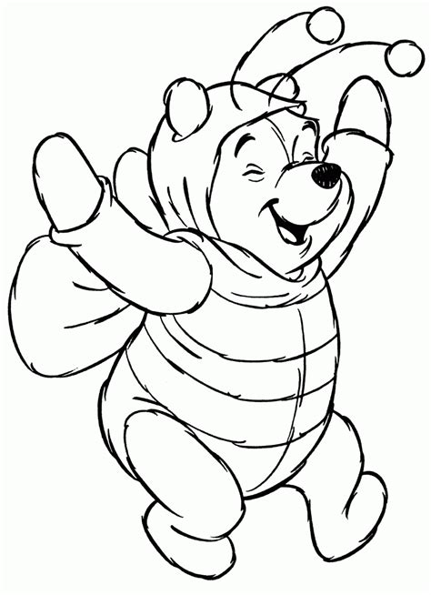 winnie the pooh halloween coloring pages printable minka s bear passion halloween special
