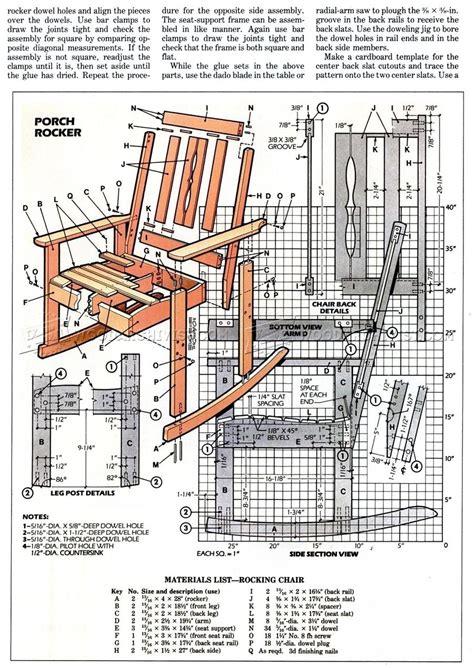 solid oak rocking chair plans woodarchivist