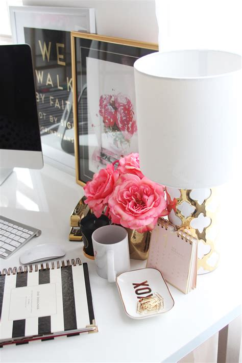 chic office decor meagan ward s girly chic home office office tour sayeh
