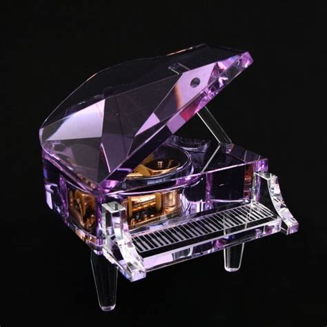 Crystal Grand Piano   Purple Color, Music Box, Music Gift, Christmas Gifts, New Year Gifts
