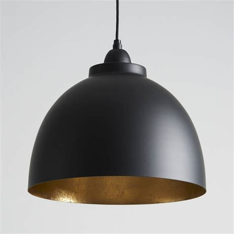 Lighting Pendants Black And Gold Pendant Light By Horsfall Wright Notonthehighstreet