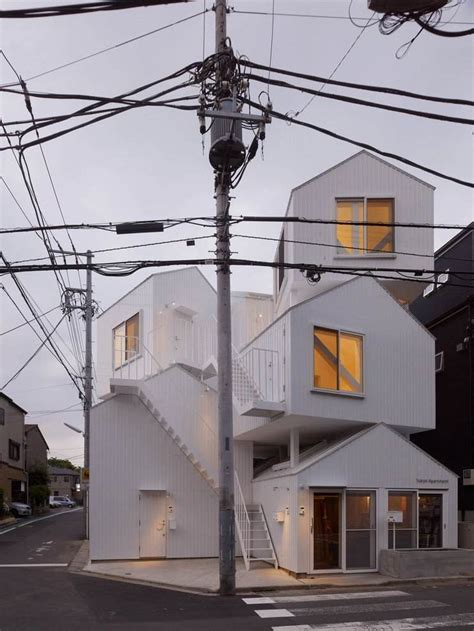 appartment tokyo modern apartment that looks like four houses being piled