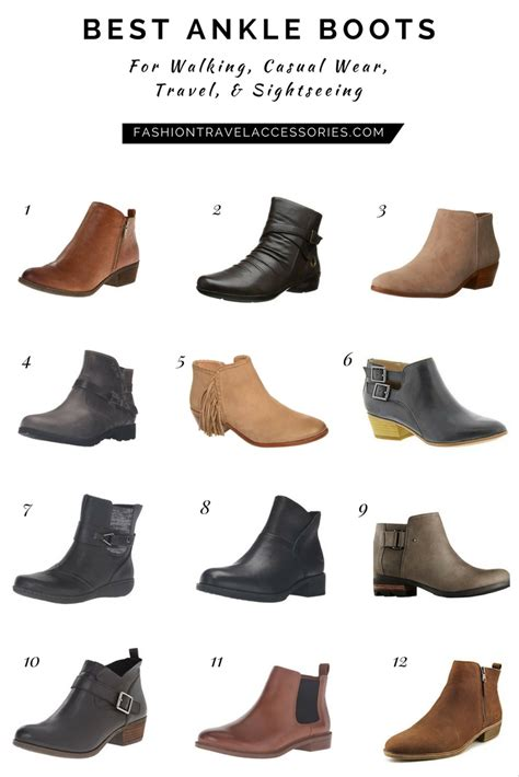 comfortable stylish travel shoes the best ankle boots for walking travel sightseeing
