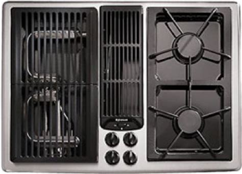 jenn air electric cooktop with grill jenn air designer line 30 quot gas downdraft cooktop