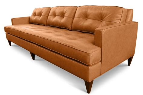 rodney couch rodney custom affordable mid century modern leather sofa