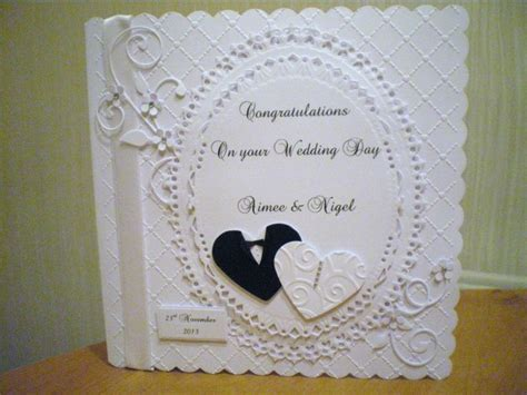 Handmade Wedding Day Cards - spellbinders and tonic dies together white cards