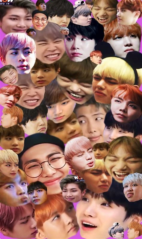 Collage Meme - quot bts 방탄소년단 meme collage quot stickers by breezefrozen redbubble