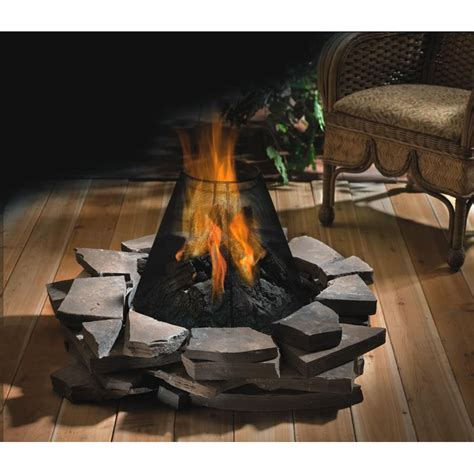 Outdoor Gas Fireplace Logs by Patioflame Outdoor Fireplace Log Burner Set Gas