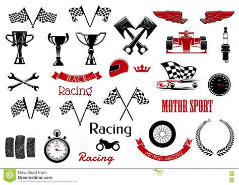street racing design elements vector design elements for motosport and racing stock vector