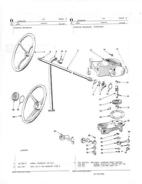 farmall a parts diagram farmall h steering parts diagram farmall h steering
