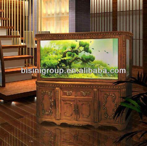 bisini european style solid wood carved aquarium