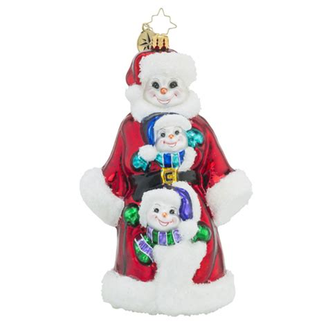 christopher radko ornaments radko triple delight snowman