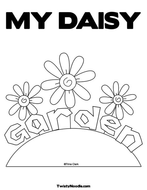 daisy flower garden coloring pages flower coloring page