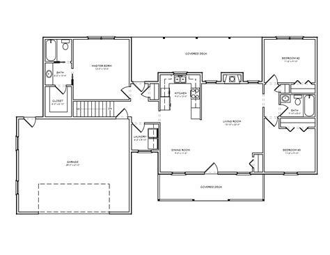 ranch floor plans with split bedrooms