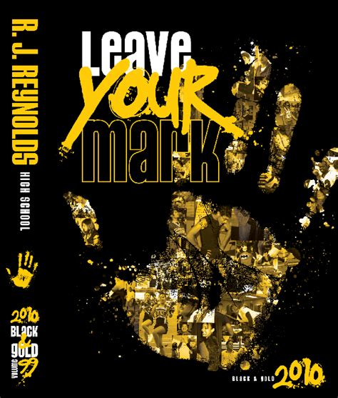 gold yearbook themes theme leave your mark yearbook covers pinterest