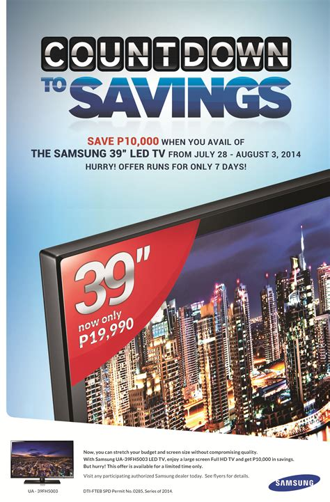 Tv Led Samsung Promo samsung to hold promo sale for 39 inch led tv
