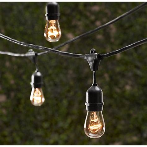 string bulb lights outdoor outdoor decorative patio string lights 48 ft