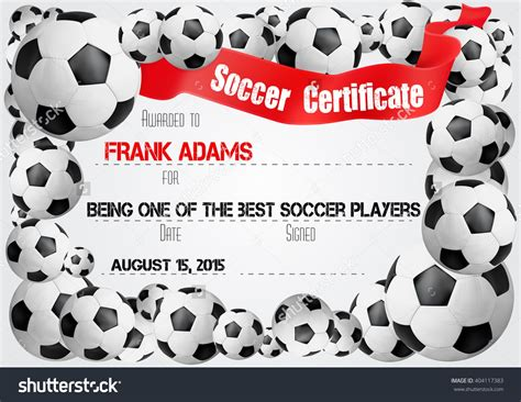soccer award certificate templates free free football award certificate templates images