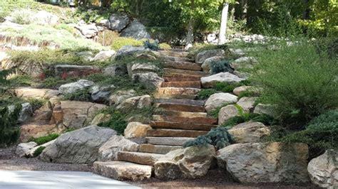 natural boulder step creations femia landscaping
