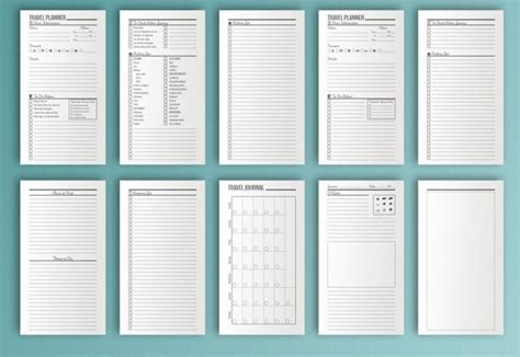 printable planner set 10 itinerary template exles templates assistant