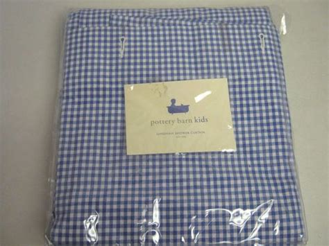 gingham shower curtain pottery barn shower curtain pottery barn kids blue white gingham new