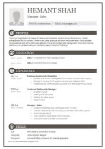 Excellent Resume Format by 10000 Cv And Resume Sles With Free One Page Excellent Resume Sle For Mba