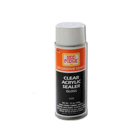 acrylic paint sealer buy mod podge clear sealer gloss 12 oz