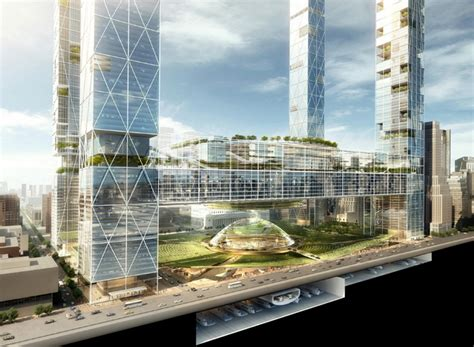 new penn station and the next square garden by som