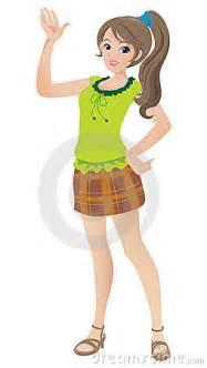 images teenage girl: beautiful teenage girl with a ponytail stock image image