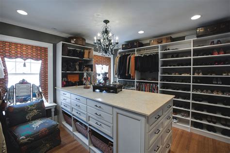 Kitchen Peninsula Ideas by Custom Walk In Closet Remodel Drury Design