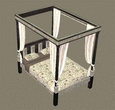 medieval bed frame mod the sims majestically medieval double bed frame