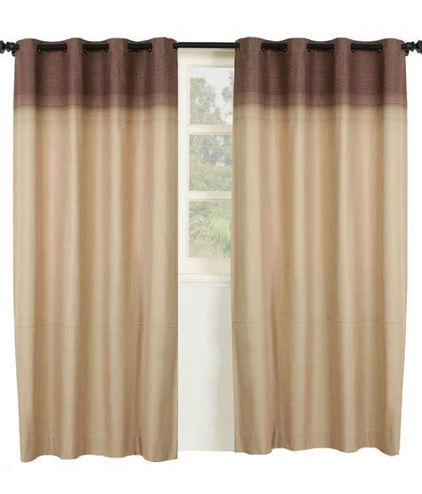 beige and brown curtains maspar door curtain plain beige and dark brown buy