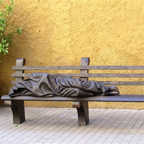 jesus on bench homeless jesus sculptures by tps