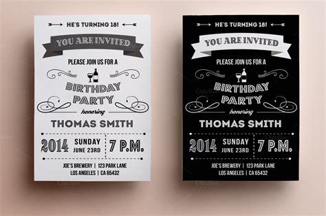 birthday card vintage template retro birthday invitation invitation templates on
