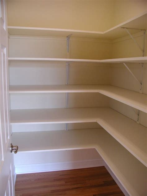 Building Pantry Shelves Design by Walk In Pantry If I Had A Corner