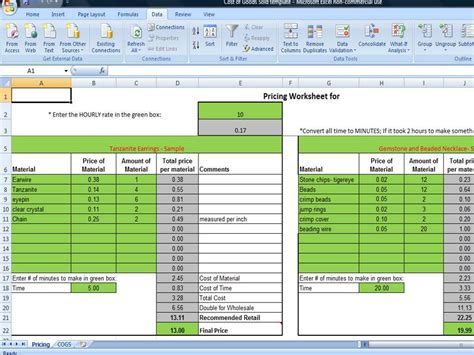 cost of goods sold template inventory cost of goods sold analysis template financial