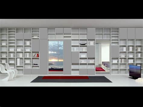 librerie design moderno arredo modulare con forme essenziali per soggiorni