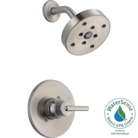 delta trinsic 1 handle 1 spray shower faucet trim kit in