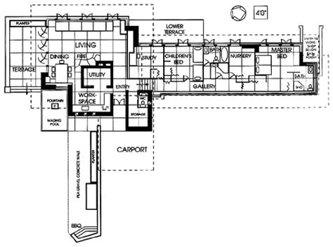 frank lloyd wright usonian floor plans seamour and gerte shavin residence chattanooga tennessee