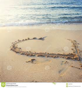 Heart written on sand royalty free stock image image 34295036