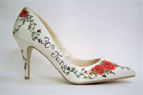tattoo design shoes painted wedding shoe design