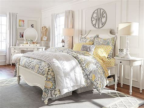 gray teenage girl bedroom white yellow gray paisley bedroom pb bedrooms