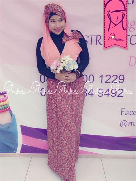 Turban Pita Grey floozy skirt 5 baju muslim gamis modern