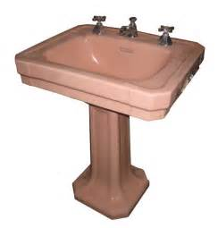 1940s bathroom sink via bklyn contessa 1940s pink deco pedestal sink i things