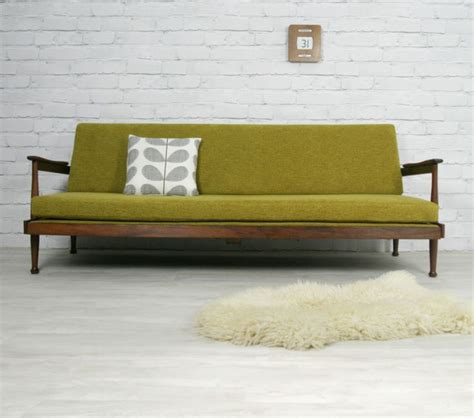 retro style sofa bed guy rogers retro vintage mid century danish style sofa
