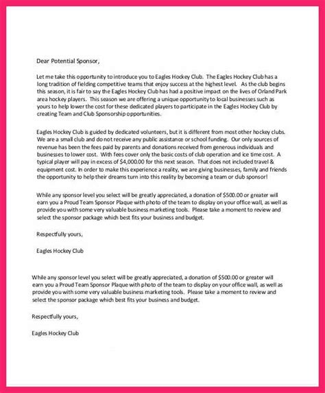 request for charity sponsorship sle letter sponsorship request letter bio letter format