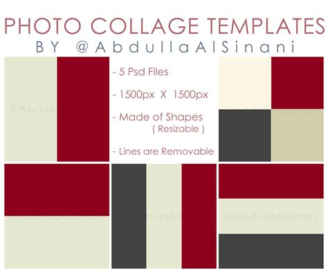 photo collage templates for web and instagram by
